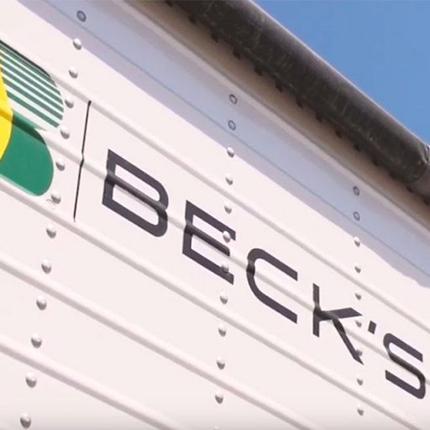 Beck's Seeds sign