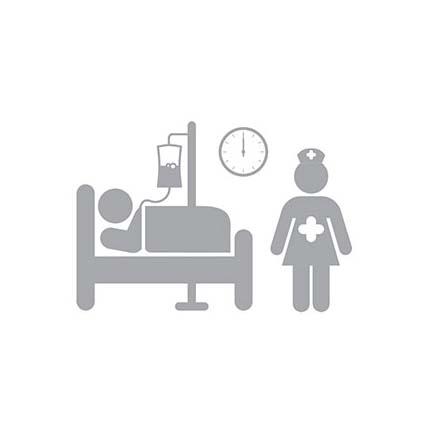 illustration of hospital room